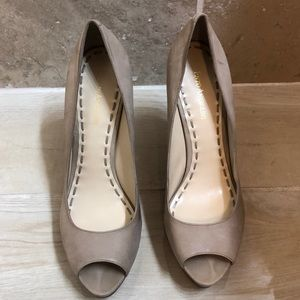 Enzo Angiolini Sully Nude Suede Pumps